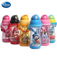 迪士尼 吸管杯儿童防漏防呛吸管水瓶学生吸管水壶水杯4234