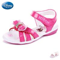 【99元两双】迪士尼儿童凉鞋2016夏季新款儿童公主鞋卡通时尚女童沙滩鞋