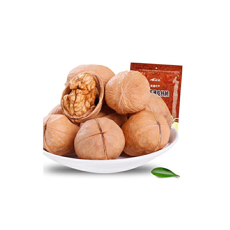 [当当自营] 味正品 新疆 阿克苏 薄皮 核桃 500g味道清香。