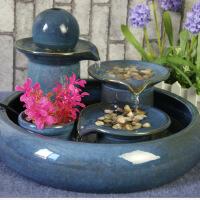 陶瓷流水喷泉 加湿器 新房摆饰 创意家居装饰品 风水摆件 赠波雾化器