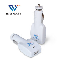 BAI WATT 汽车手机车载充电器 点烟器USB车充头 1.5A