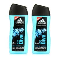 Adidas阿迪达斯男士沐浴露250ml 两支套装 冰点0035