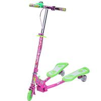 小丽明 儿童蛙式滑板车 铝合金小孩蛙式 三轮车活力PU闪光轮扭扭车 XLM901