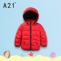 以纯A21童装加厚棉衣外套男童中大童2016冬款保暖夹棉可拆帽大衣