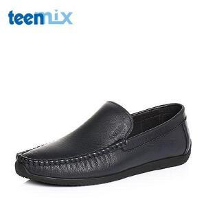 Teenmix/天美意2017春季牛皮简约舒适男休闲鞋35832BM7