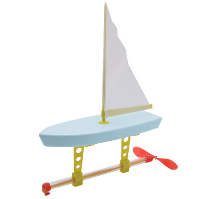 新阳光 科学实验diy手工制作 创意玩具 螺旋桨赛车游艇 橡皮筋动力