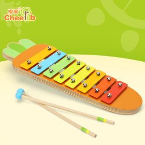 橙爱木质婴幼儿8音敲琴木琴打击手敲乐器音乐益智启蒙玩具