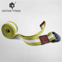 哈他伸展带瑜伽绳拉伸跳操专用瑜珈伸展带愈加辅助纯棉拉伸带子