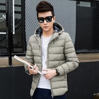 地球城冬季男士棉衣短款连帽外套青年加厚棉服男韩版修身棉袄潮流