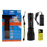 supfire神火 L6 26650强光手电筒充电LED氙气户外骑行家用T6-L2远射