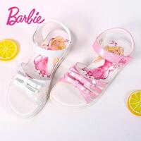 芭比童鞋 女童凉鞋2017夏季新款3-18岁儿童凉鞋靓丽时尚公主鞋