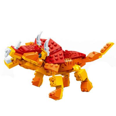 邦宝 拼插积木 儿童益智教玩具 小颗粒 恐龙系列 三角龙6862