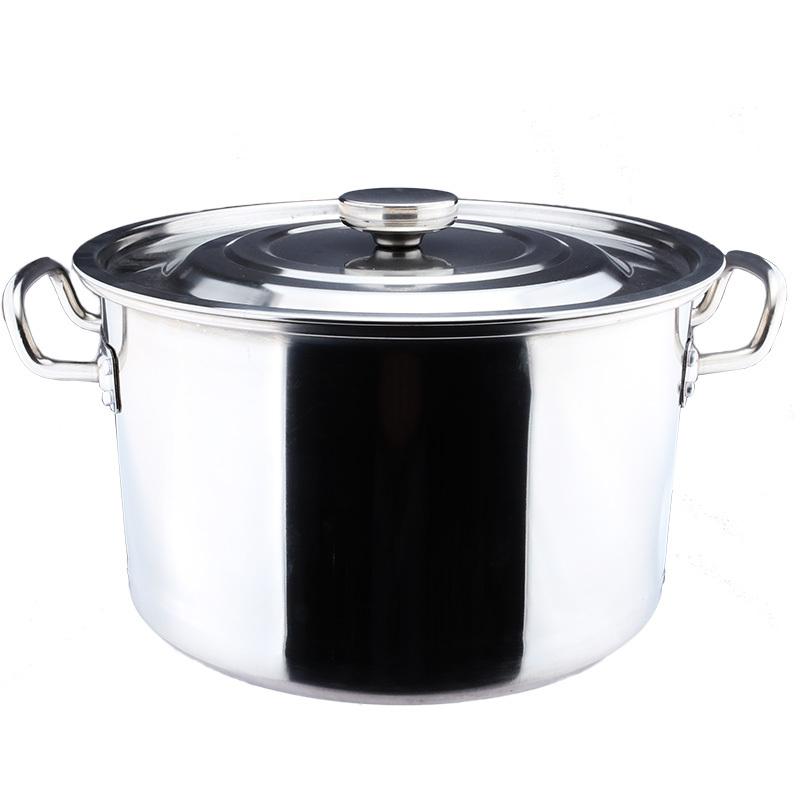 30cm不锈钢桶带盖圆桶加厚大汤锅