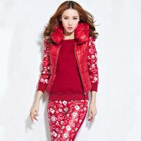 秋冬加厚大码女装运动服加厚夹棉时尚休闲女士套装三件套
