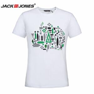 杰克琼斯/JackJones时尚百搭新款T恤 印花时尚--9-2-2-213201057049