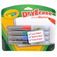 美国[Crayola绘儿乐] 4色易擦快干白板笔/马克笔 98-8626