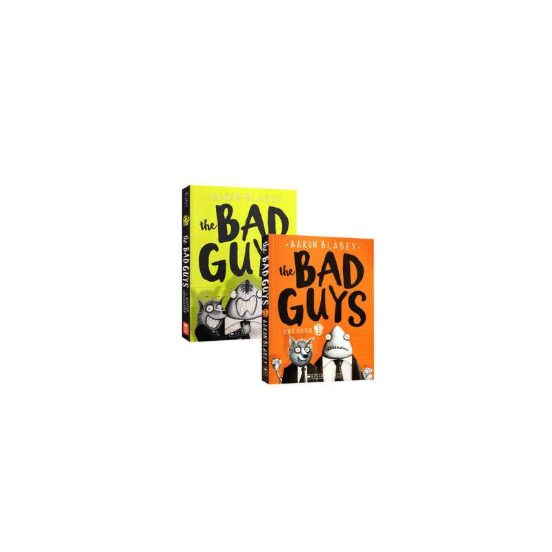 英文原版 the bad guys 1-2 大坏蛋/砍人先生 2本套装 儿童黑白漫画