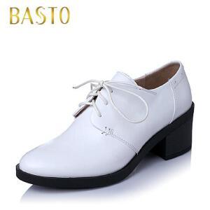 BASTO/百思图春季专柜同款牛皮女单鞋TQ120AM6