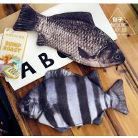 创意文具盒仿真鲫鱼笔袋个性搞怪男女学生咸鱼形铅笔袋 可爱小丑鱼