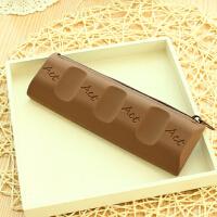 咔巴熊 巧克力笔袋 大容量女生简约铅笔盒 创意学生文具