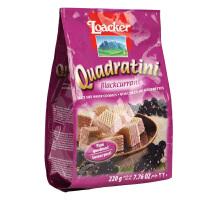 意大利Loacker莱家 黑加仑子味粒粒装威化饼干220g 宝宝零食饼干