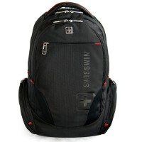 SWISSWIN瑞士十字双肩包旅行包大容量联想戴尔华硕宏基苹果笔记本电脑包男女双肩包背包学生书包14寸-15.6寸sw8118i