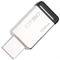 【当当正品店】金士顿(Kingston)U盘128G 优盘 128G USB3.1 128GB 金属U盘 DT50 黑色