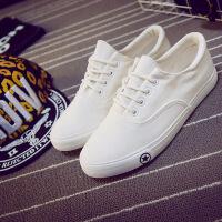 2016春季新款透气帆布鞋男韩版板鞋学生鞋英伦低帮休闲鞋子系带黑白色潮鞋209AT支持货到付款