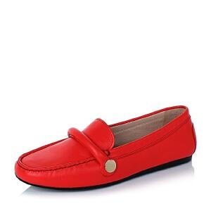 BASTO/百思图专柜同款软面牛皮浅口女单鞋YBS01CQ6