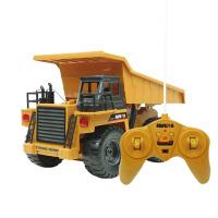 汇纳 6通道无线遥控充电合金版翻斗车自卸车 儿童运输车玩具540