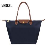 莫尔克(MERKEL)英式凯特王妃款包时尚通勤折叠饺子包女单肩手提包142