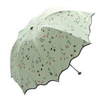 谋福 女士雨伞黑胶两用防晒伞防紫外线遮阳伞太阳伞折叠晴雨伞