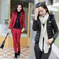 秋冬棉衣休闲运动套装两件套女装时尚修身短款小棉服棉裤