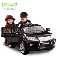 Happytime/快乐年华儿童益智电动车雷克萨斯高档安全四轮可坐遥控