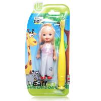 一夫里2-6岁儿童牙刷幼童3802(送玩具娃娃一个 颜色随机)