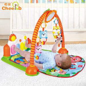 橙爱 快乐成长钢琴健身架 脚踏钢琴新生儿音乐早教 婴儿玩具