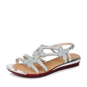 Belle/百丽夏季专柜同款羊皮革女凉鞋Q2J2DBL6