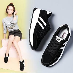 ZHR2017夏季新款平底运动鞋女韩版百搭休闲鞋学生单鞋真皮女鞋潮M192