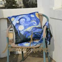 蒙马特大街艺术抱枕沙发靠垫欧美创意布艺靠枕含芯包邮莫奈睡莲