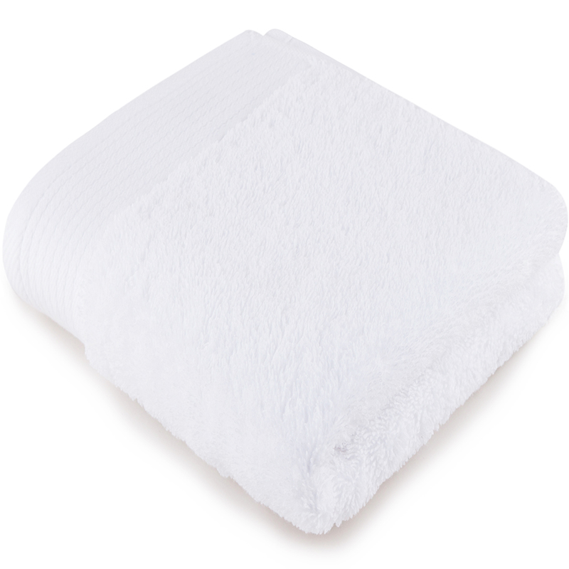 [当当自营]三利 A类加厚长绒棉 缎边大面巾 纯棉洗脸毛巾 柔软舒适 带挂绳 婴儿可用 雪白色