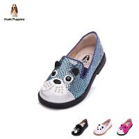 暇步士童鞋2017年春秋新款女童皮鞋巴吉度猎犬系单鞋小童休闲鞋 DP9095