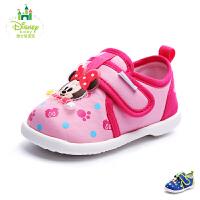 【99元两双】迪士尼童鞋2017年婴童休闲鞋男女童旅游鞋米奇米妮宝宝鞋 DH0086