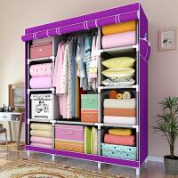 索尔诺简易布衣柜 大空间 加固强 加厚防水布套 时尚大号衣柜折叠 储物柜1610