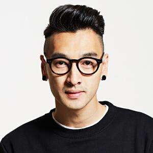 inmix音米 超轻黑框TR90复古潮眼镜框 男款/女款配眼镜