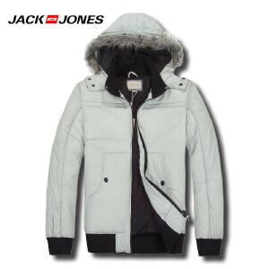 杰克琼斯冬季男士简约修身短款百搭保暖棉服 30-5-1-211422024102