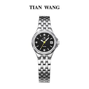 天王表女士手表石英手表钢带休闲复古情侣表女表LS3755S/D