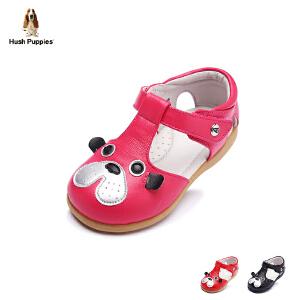 暇步士童鞋2017年春新款女童真皮凉鞋小童羊皮搭扣宝宝鞋学步鞋 DP9048