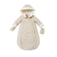 davebella男女宝宝冬装新款加绒保暖背心式睡袋 婴儿睡袋