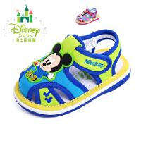 【99元两双】迪士尼童鞋2016新品男女宝宝学步鞋凉鞋软底舒适透气帆布鞋米奇图案鞋