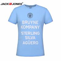 杰克琼斯/JackJones时尚百搭新款T恤 蓝色字母--2-4-13-2171010560C41